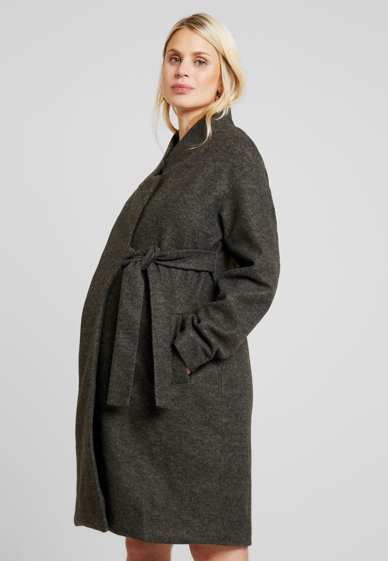 MAMALICIOUS - MLHAZE COAT - Płaszcz wełniany /Płaszcz klasyczny - dark grey melange