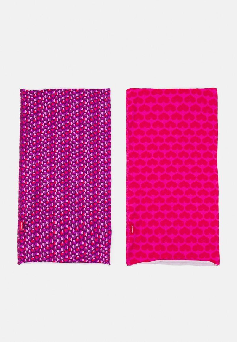 Maximo - KIDS MULTIFUNKTIONSTUCH 2 PACK UNISEX - Kruhová šála - pink/purple