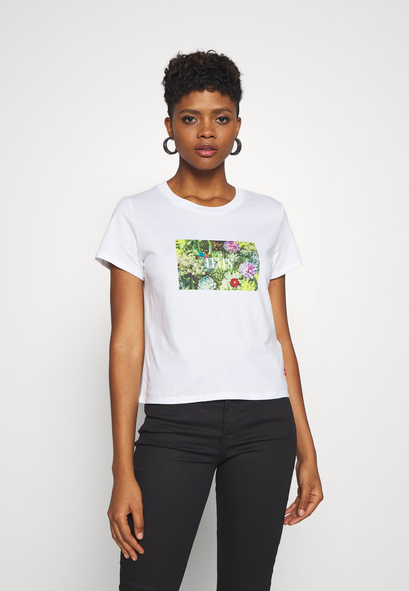 Levi's® - GRAPHIC SURF TEE - T-shirt z nadrukiem - white