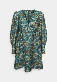 V NECK EMPIRE DRESS - Denní šaty - green