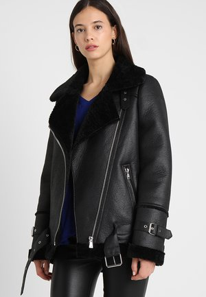 COMMUNITY  - Veste en similicuir - black