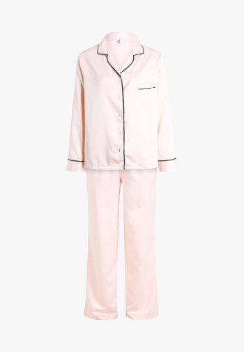 ABIGAIL SHIRT AND TROUSER SET - Pyjama set - pale pink/black