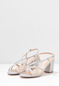 Dorothy Perkins - SILENCESTRAPPY BLOCK - Sandals - silver - 4