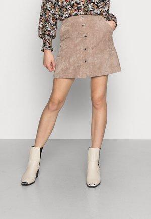 JDYULLA SKIRT - Mini skirt - portabella