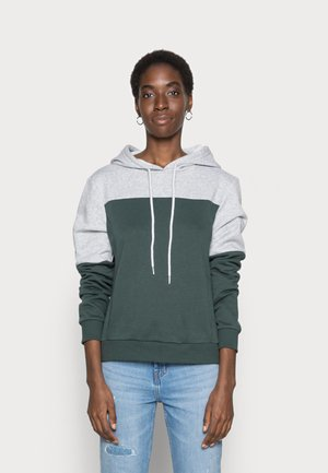 ONLINC JOEY EVERYHOOD - Sudadera - light grey melange/mallard green