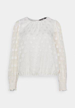 SPOT BLOUSON SLEEVE TOP - Blouse - white