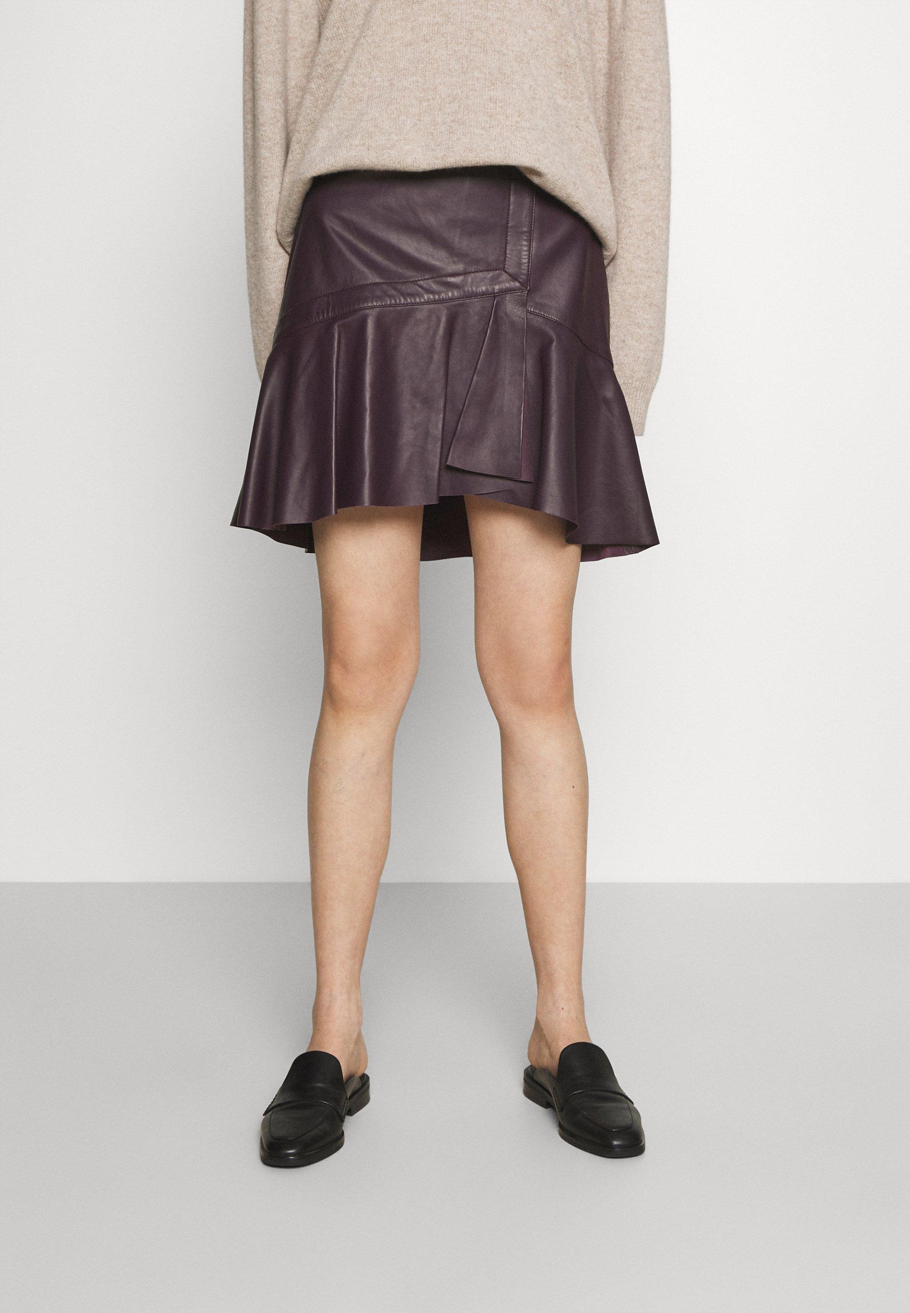 Women GANAI - Leather skirt