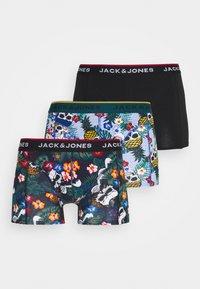 Jack & Jones - JACFUNNY SKULLS TRUNKS 3 PACK - Shorty - black/deep teal/burnt ochre - 4