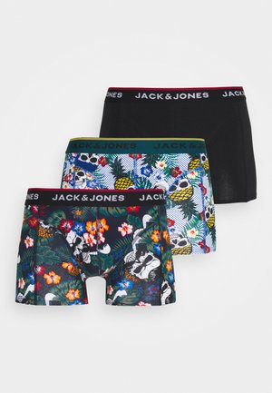 JACFUNNY SKULLS TRUNKS 3 PACK - Culotte - black/deep teal/burnt ochre