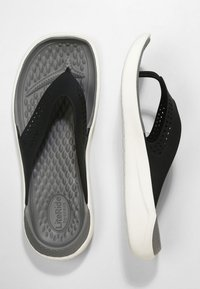 Crocs - CROCS LITERIDE - Pool slides - black / smoke - 1
