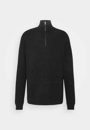 GUNA TURTLE NECK ZIP - Svetr - black