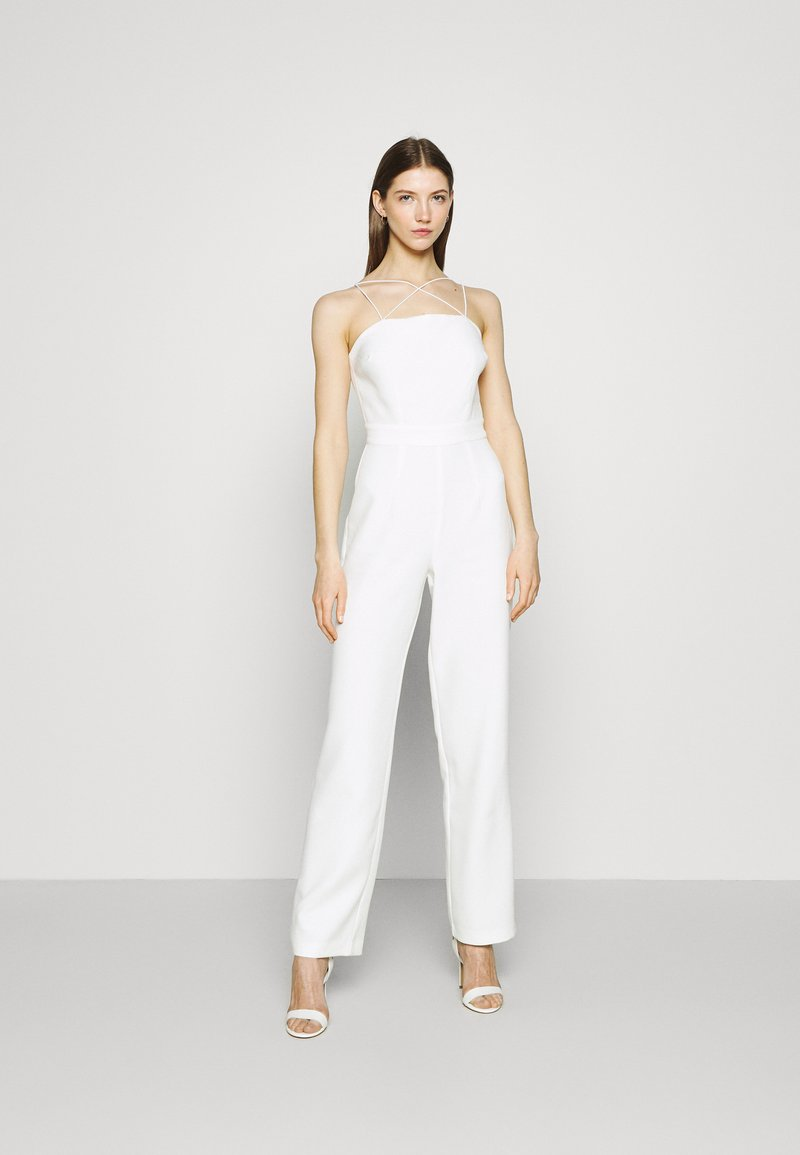 NA-KD - CROSS DETAIL - Jumpsuit - white