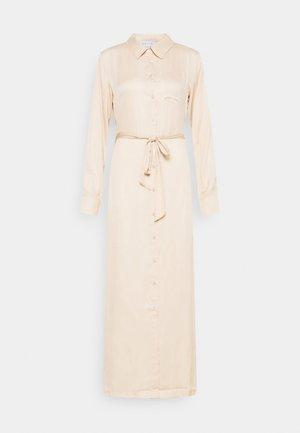 BELTED DRESS - Maxi dress - beige