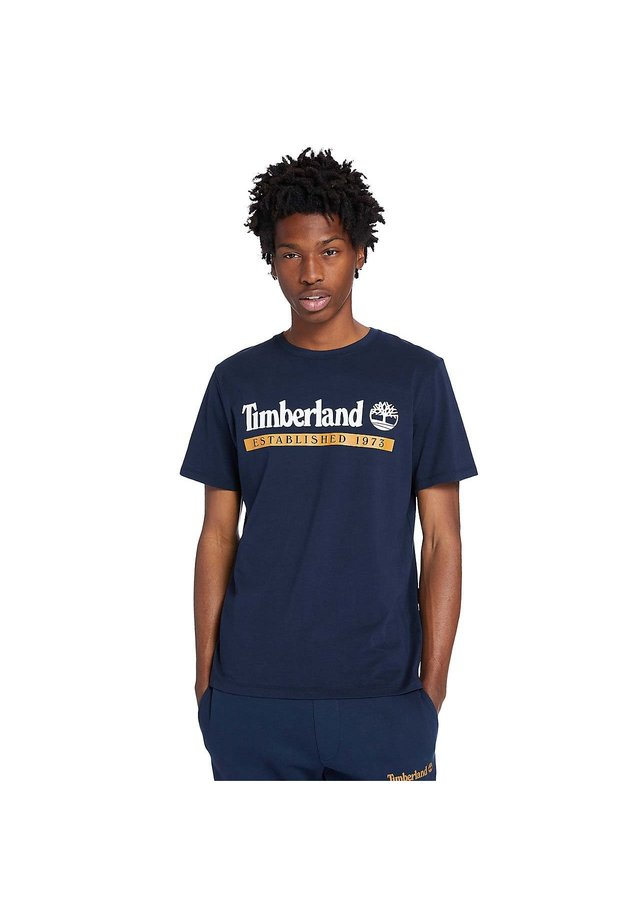 T-shirt imprimé - dark sapphire/wheat boot