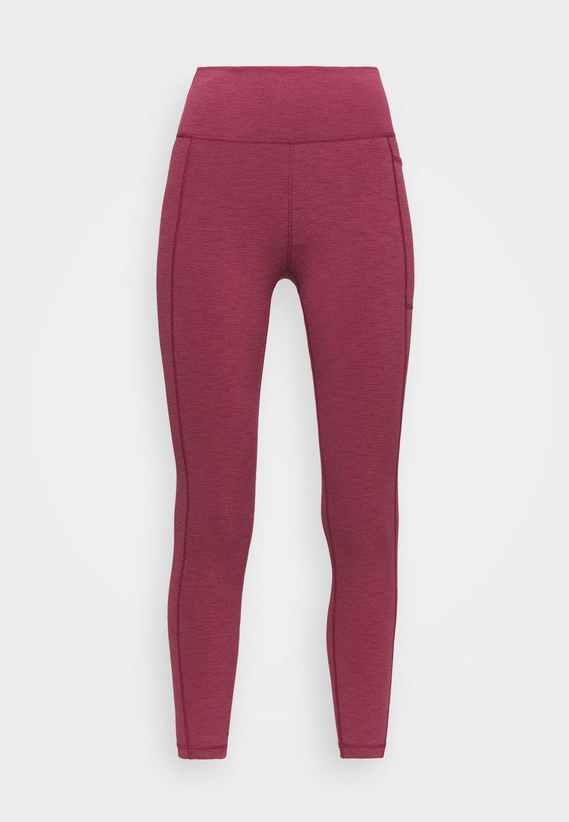Sweaty Betty - SUPER SCULPT 7/8 YOGA LEGGINGS - Leggings - renaissance red