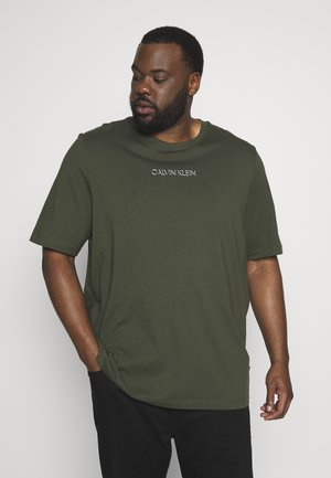 SHADOW LOGO - Print T-shirt - green