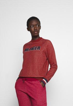 MODERN STRIPE TRACK - Haut de pyjama - deep rouge