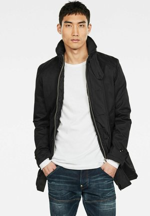 PADDED TRENCH - Manteau court - dk black