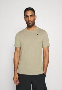 Nike Performance - DRY TEE CREW SOLID - Basic T-shirt - mystic stone/black - 0