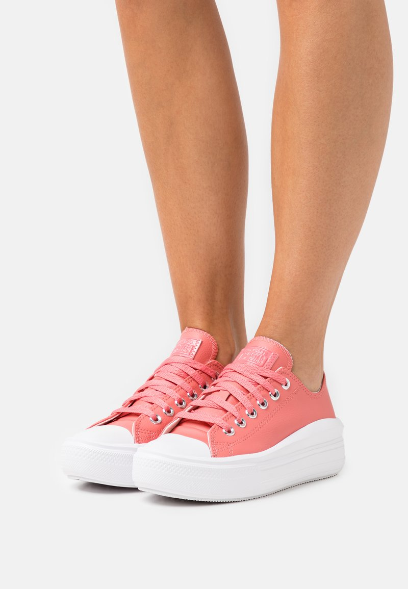 Converse - CHUCK TAYLOR ALL STAR MOVE  AND SHINE PLATFORM - Trainers - pink salt/white