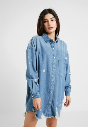 SUPER DISTRESS DRESS - Denim dress - blue