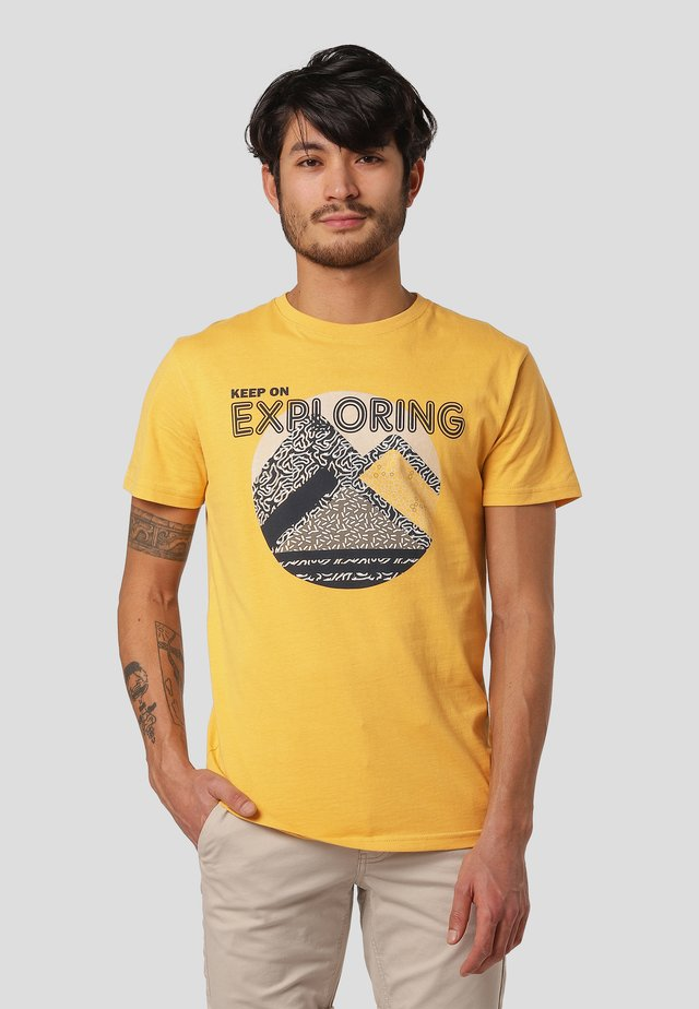 T-shirts print - yellow honey