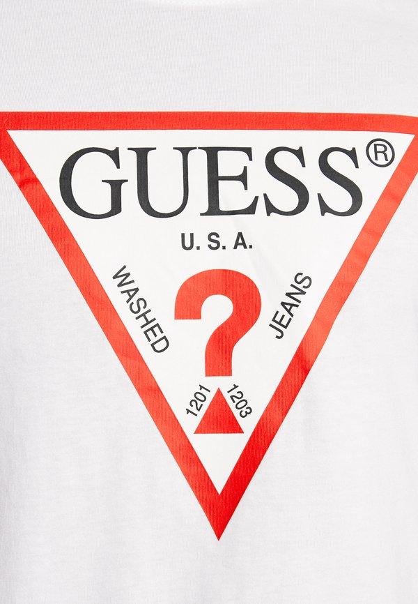 Guess ORIGINAL LOGO CORE TEE - Bluzka z długim rękawem - white/biały Odzież Męska IQTS