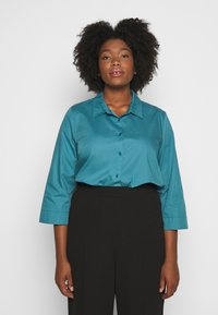 Persona by Marina Rinaldi - BALSA - Button-down blouse - turquoise - 0