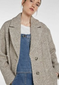 SET - Classic coat - offwhite brown - 4