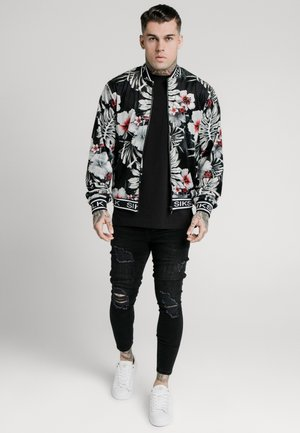 FLORAL JACKET - Bomber bunda - black