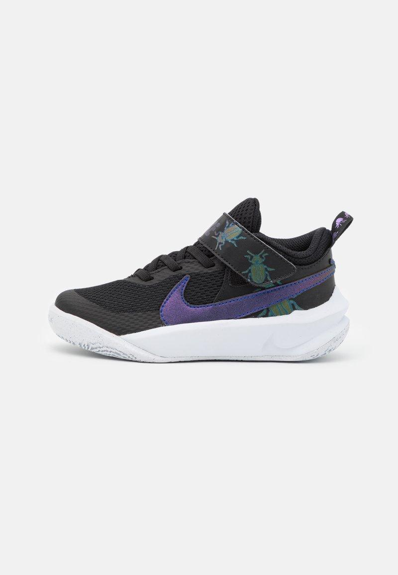 Nike Performance - TEAM HUSTLE UNISEX - Basketball shoes - black/multicolor/chlorine blue/white
