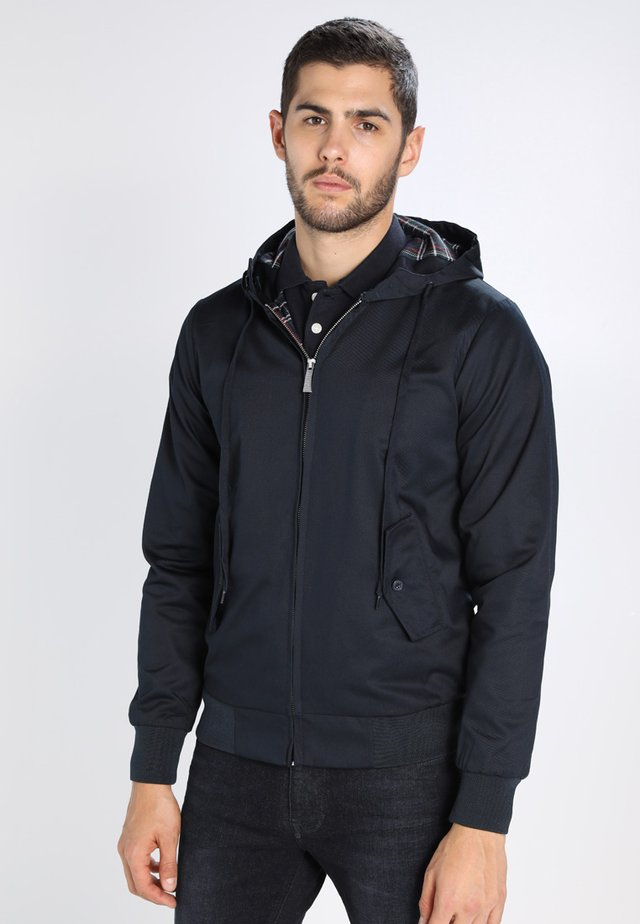 HOODED - Summer jacket - marine