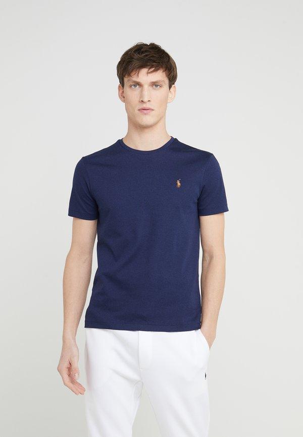 Polo Ralph Lauren PIMA - T-shirt basic - french navy/granatowy Odzież Męska MQUH