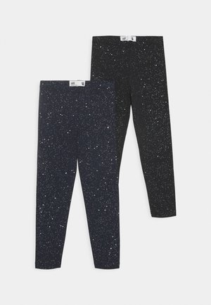 HUGGIE TIGHTS 2 PACK - Leggings - black/galactic sparkles