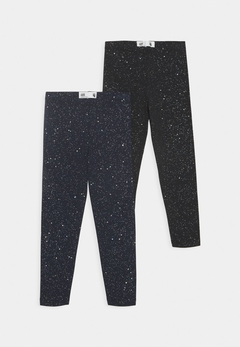 Cotton On - HUGGIE 2 PACK - Leggings - black/galactic sparkles