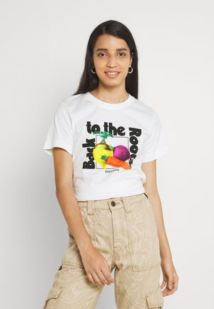MYSEN THE ROOTS - Print T-shirt - offwhite