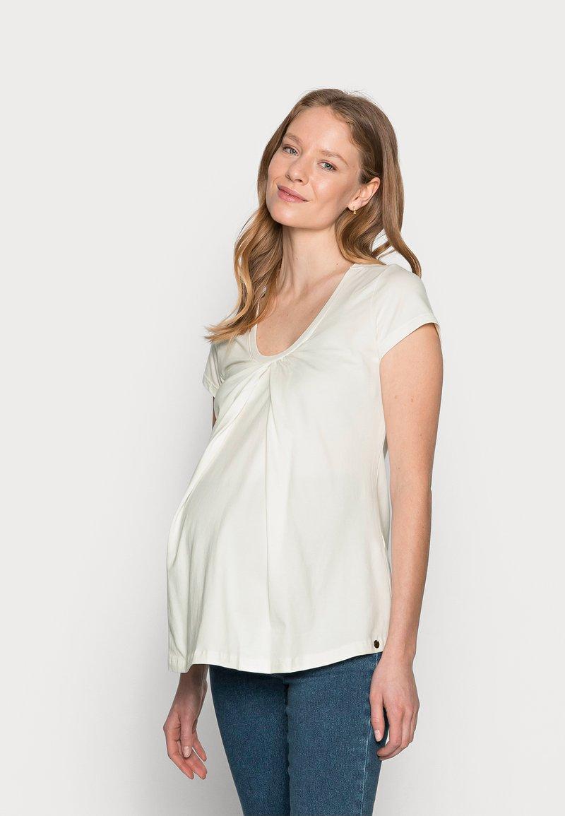 LOVE2WAIT - NURSING - T-shirt z nadrukiem - off white