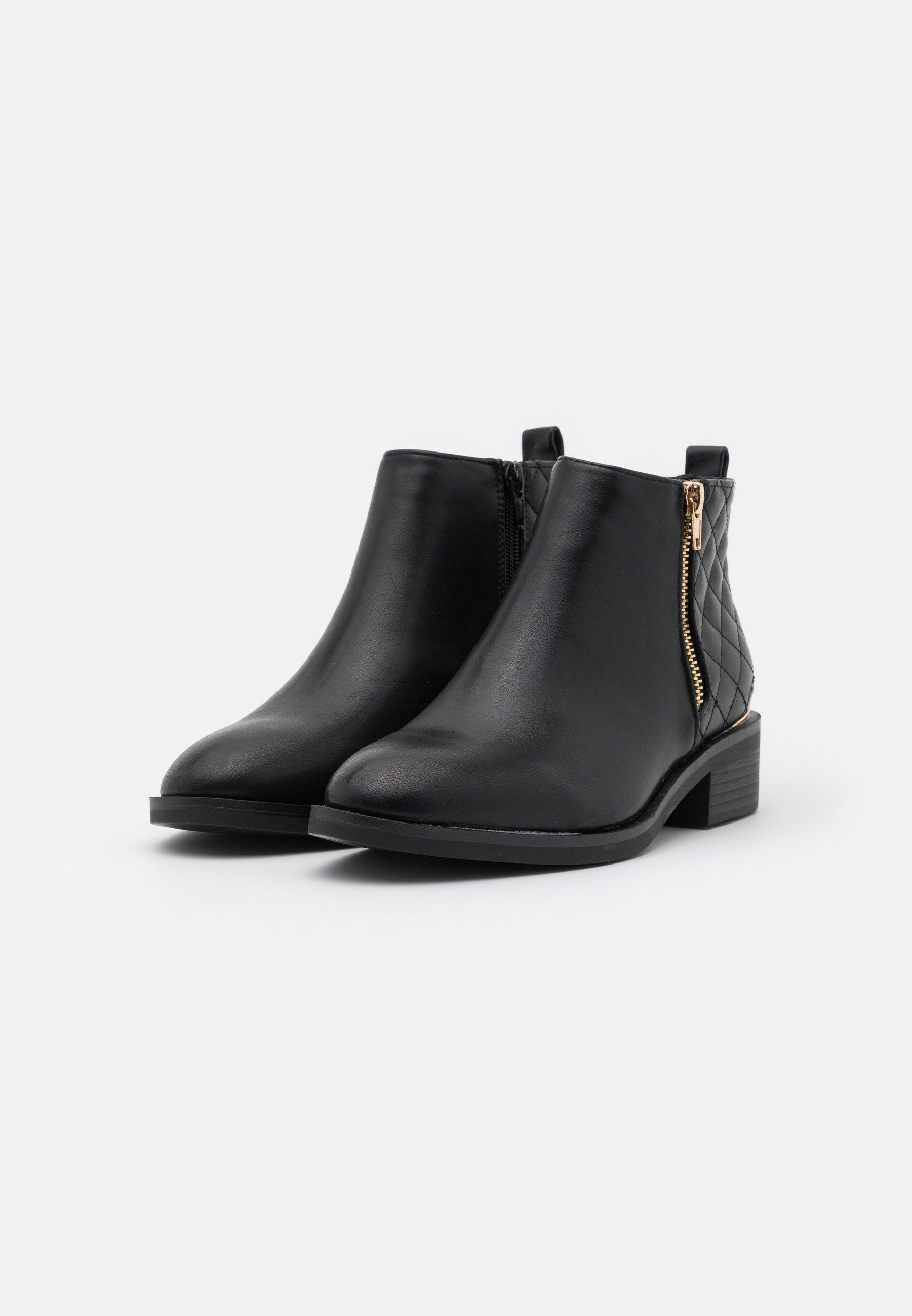 New Look BRUCIE QUILTED ZIP Ankle Boot black/schwarz