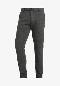 Selected Homme - SLIM ARVA HOUNDSTOOTH PANTS - Trousers - grey - 4