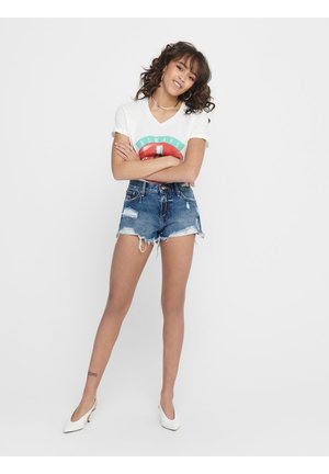 ONLCARMELLO REG DESTROY - Denim shorts - medium blue denim