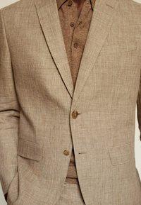 Mango - Blazer jacket - beige - 5