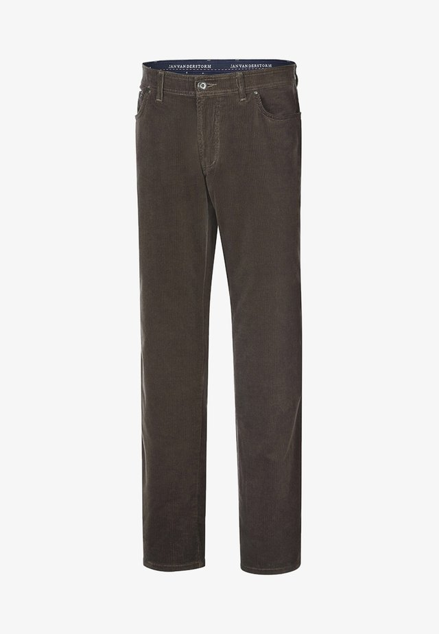 TJELVAR - Trousers - brown