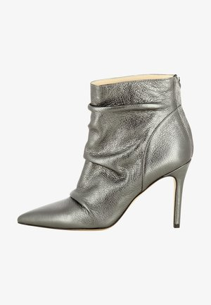High heeled ankle boots - silber