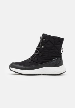 QUILTY WP - Winter boots - black/white