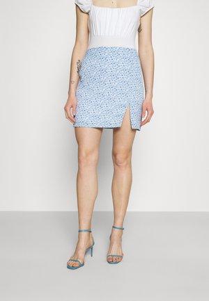 PAMELA REIF X ZALANDO FRONT SLIT RECYCLED MINI SKIRT - Minirok - blue