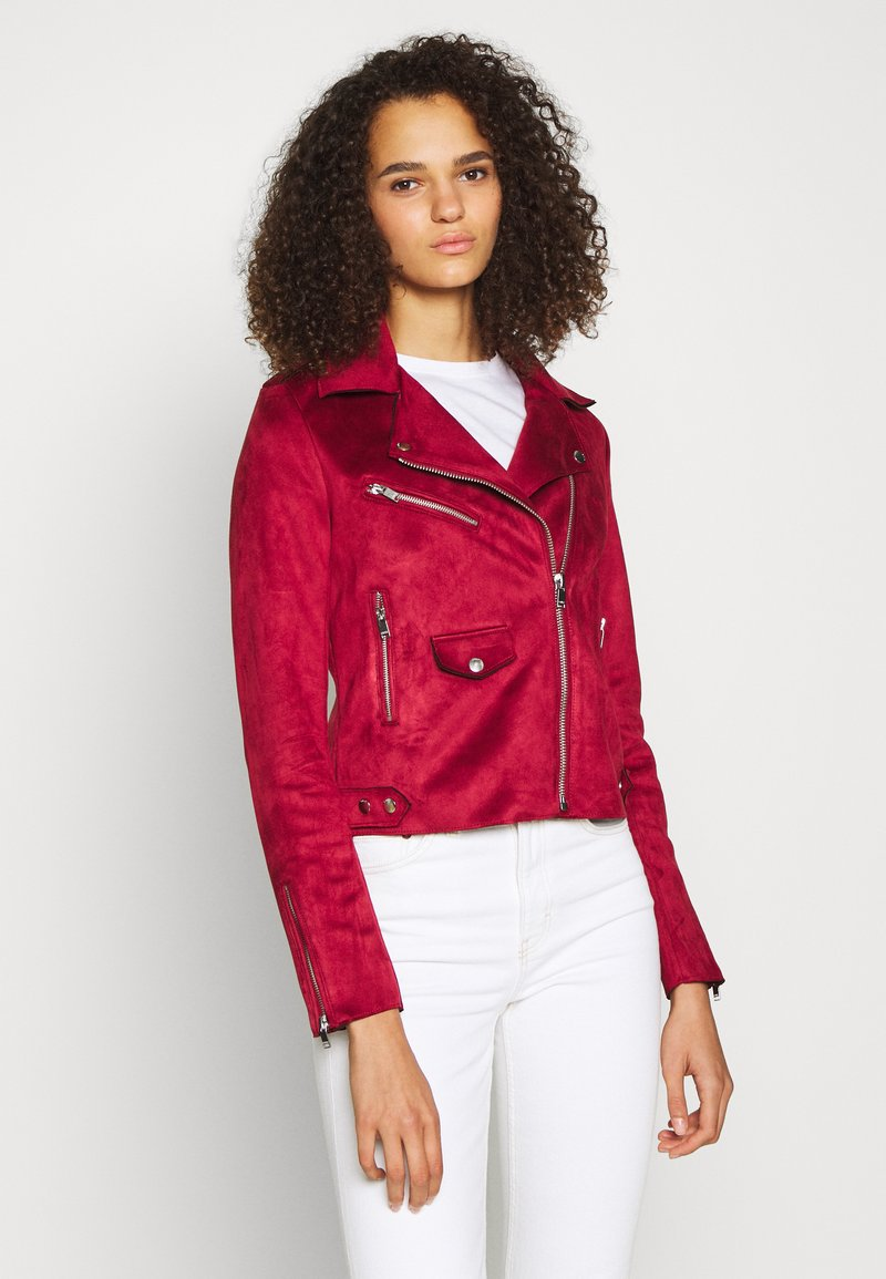 ONLY Tall - ONLSHERRY BONDED BIKER  - Giacca in similpelle - rhubarb