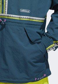 adidas Originals - TAPED ANORAK - Windbreaker - turquoise - 5