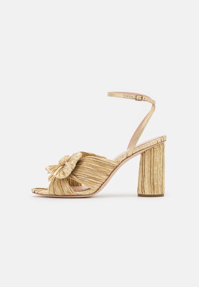 CAMELLIA KNOTWITH ANKLE STRAP - Højhælede sandaletter / Højhælede sandaler - gold