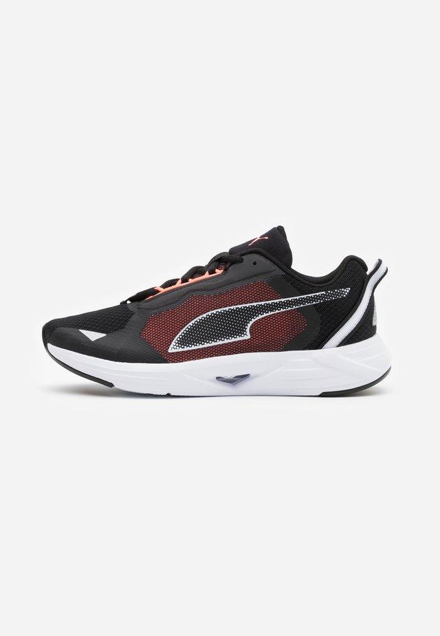 MINIMA  - Neutral running shoes - black/white/energy peach
