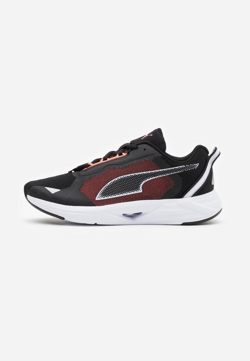 Puma - MINIMA  - Neutral running shoes - black/white/energy peach